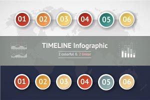 TIMELINE INFOGRAPIC SET #3