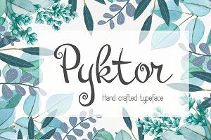 Pyktor script font