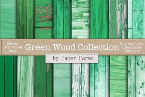 Green wood textures