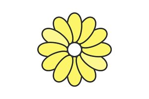 Flower color icon
