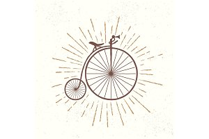 Symbol of old vintage bicycle