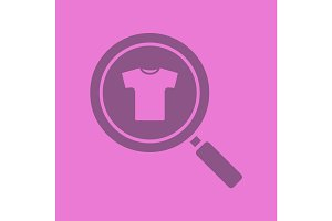 Clothes search glyph color icon