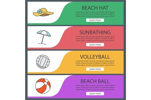 Summer banner templates set