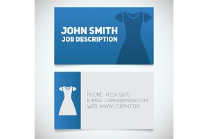 Business card print template with sun frock logo