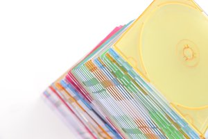 Stack of disks isolated on white bac