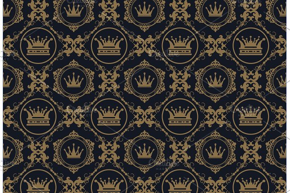 Interior Design Royal Wallpaper Patterns Creative Market