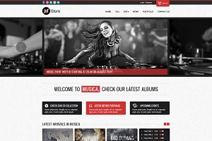 Musica - Ecommerce Website Template