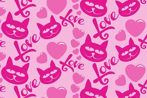 Love heart, seamless pattern