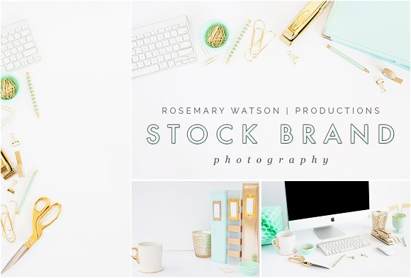 Mint + Gold Stock Photo Bundle