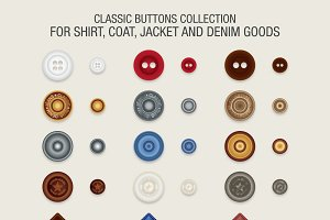Classic Buttons Collection Vector
