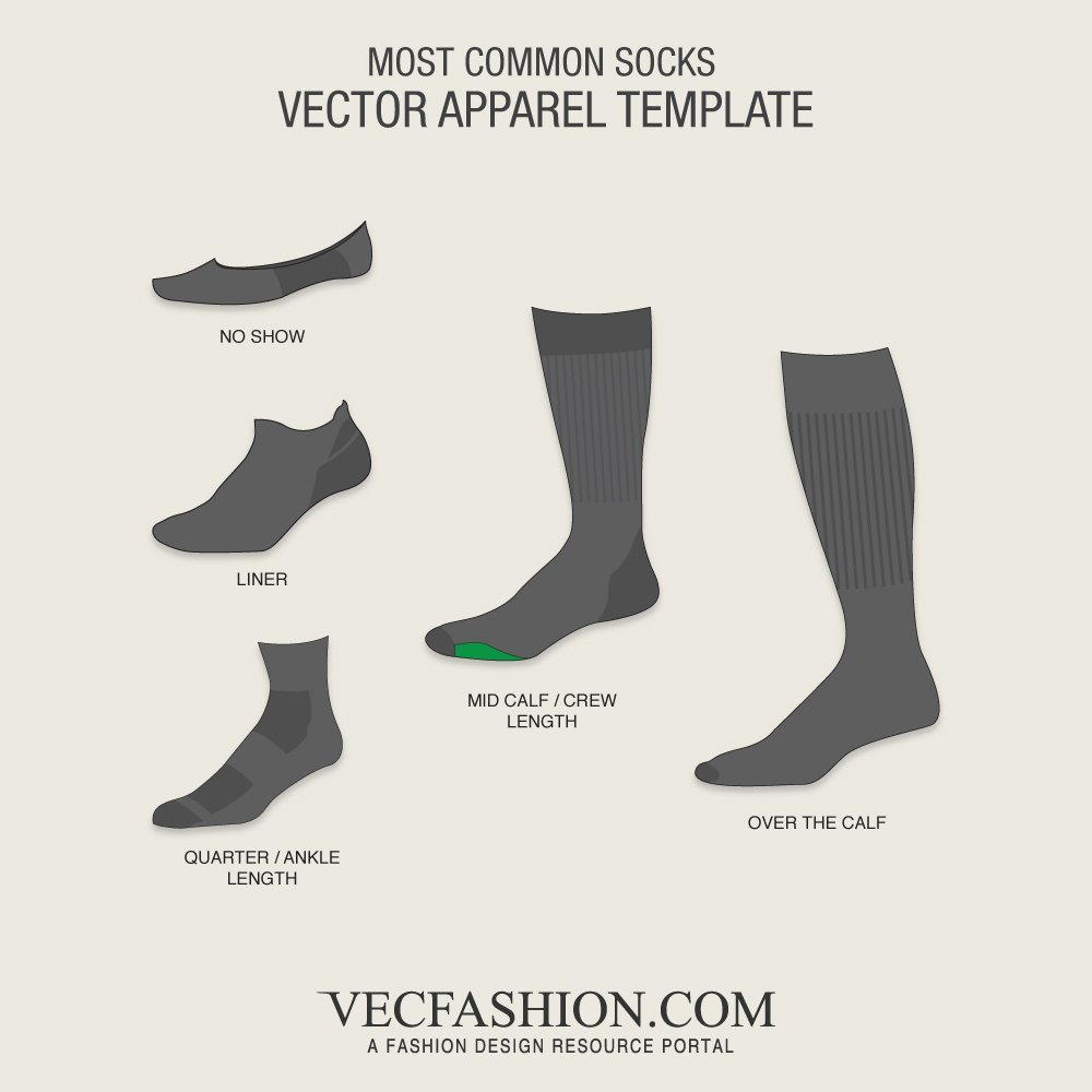 5 most common socks templates illustrations creative market