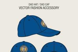 Dad Hat or Dad Cap Template