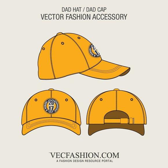 Dad Hat or Dad Cap Template ~ Illustrations ~ Creative Market