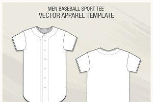 Men Baseball Sport Tee