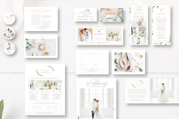Stationery Templates: By Stephanie Design - Complete Photography Marketing Set