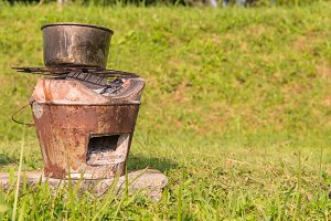 Thai stove Brazier With Steaming Pot
