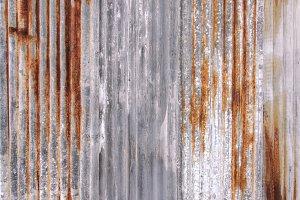 Rust texture zinc wall