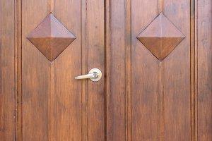 Door handle and master key.