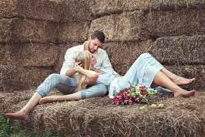 Man and woman in the hayloft.