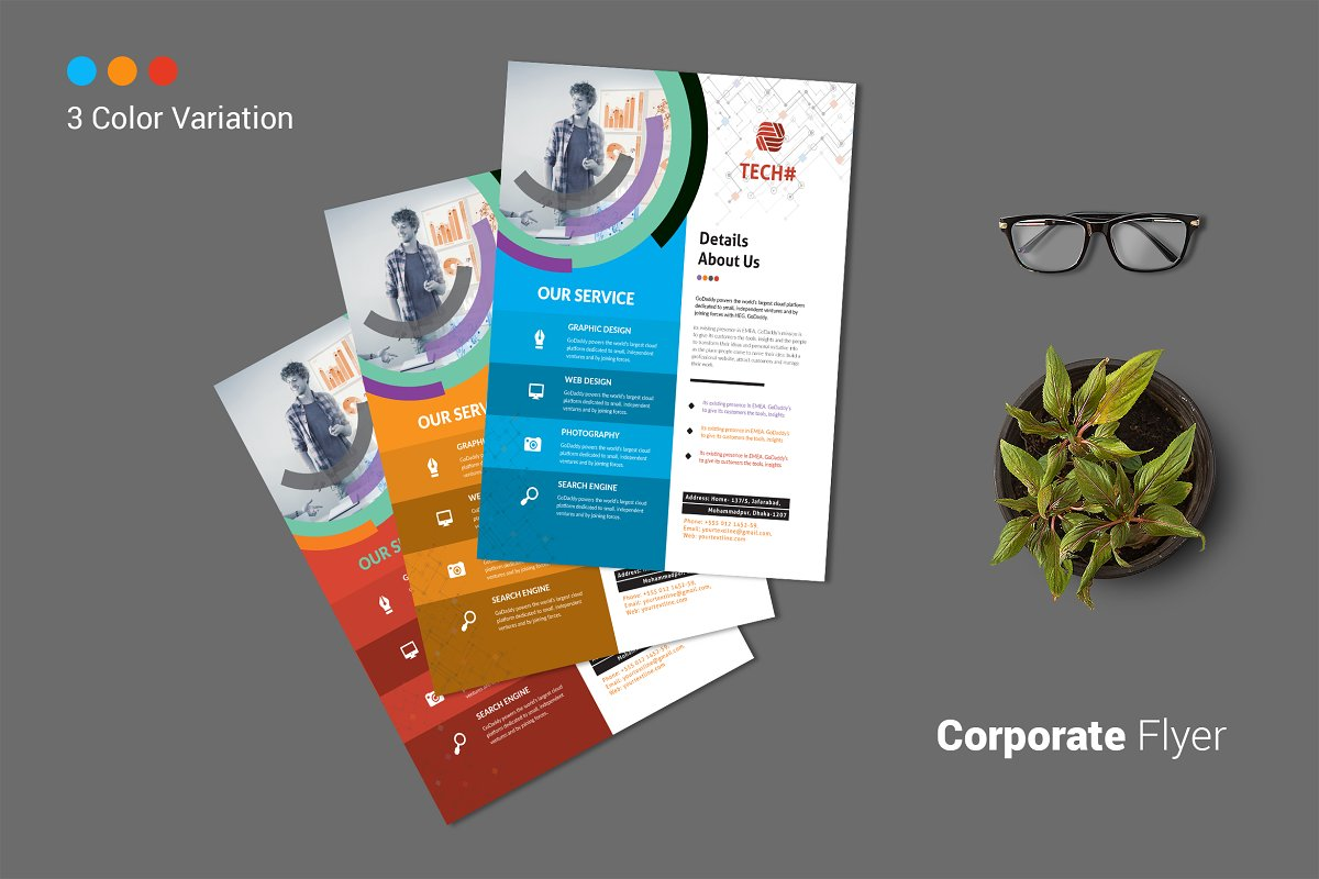 Corporate Flyer in Flyer Templates - product preview 8