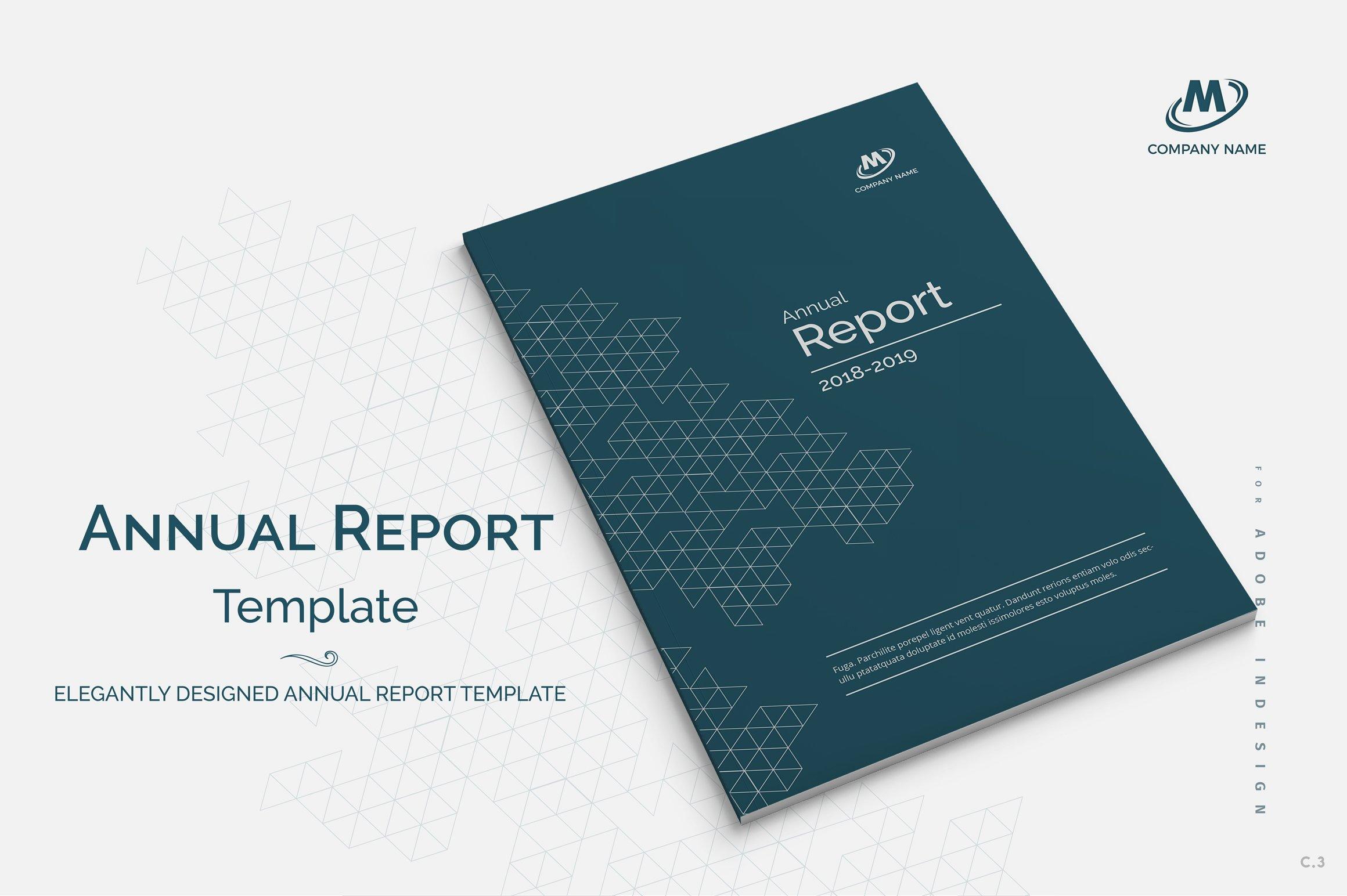 Annual Report Template ~ Brochure Templates ~ Creative Market