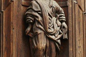 Wooden vintage figure