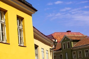 Yellow and red roofs