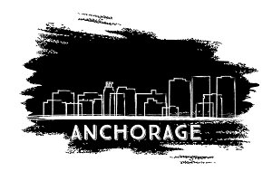 Anchorage Skyline Silhouette.