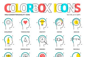 Colorbox icons, personality - male