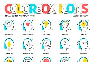 Colorbox icons, personality - female