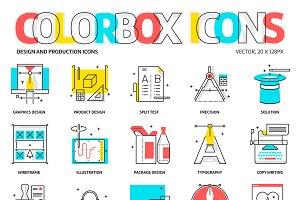 Colorbox icons, design theme