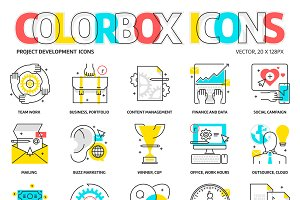 Color box icons, project development