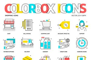 Colorbox icons, shopping