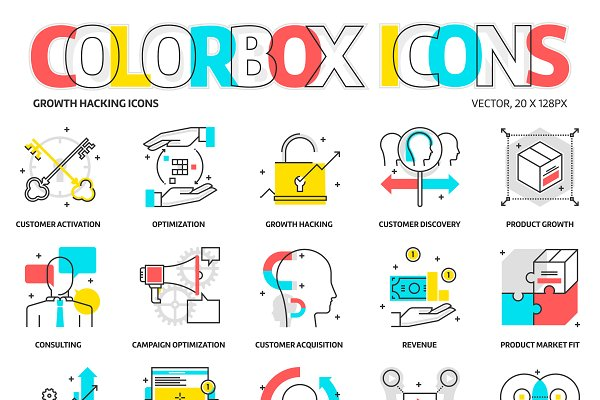 Colorbox icons, growth hacking