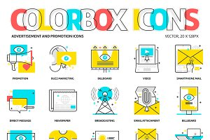 Colorbox icons, advertisement