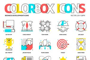 Colorbox icons, business