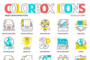 Colorbox icons, project development