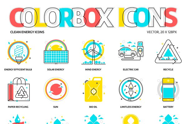Colorbox icons, Clean energy