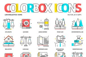 Colorbox icons, law