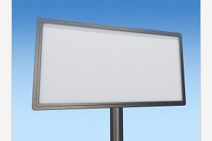 Blank white billboard