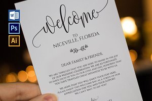 Wedding Welcome Bag Note Wpc 108