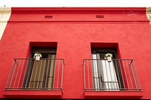Two balconies.