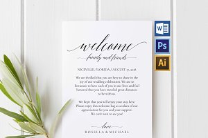 Wedding Welcome Bag Note Wpc 109