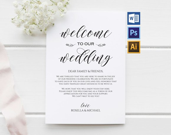 Wedding Welcome Bag Note Wpc 110 Invitations