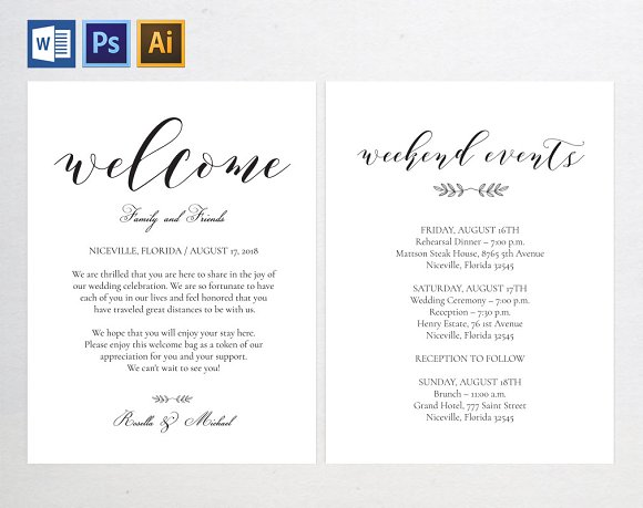 Wedding Welcome Bag Note Wpc 112 Invitations