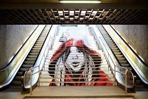 Graffiti in the metro.
