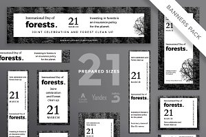 Banners Pack | Forests Day