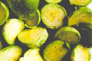 Brussel sprouts, faded vintage look