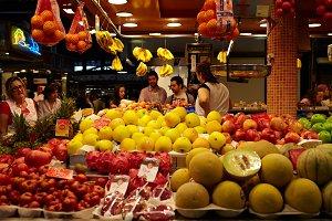 Fruit and vegetables market.