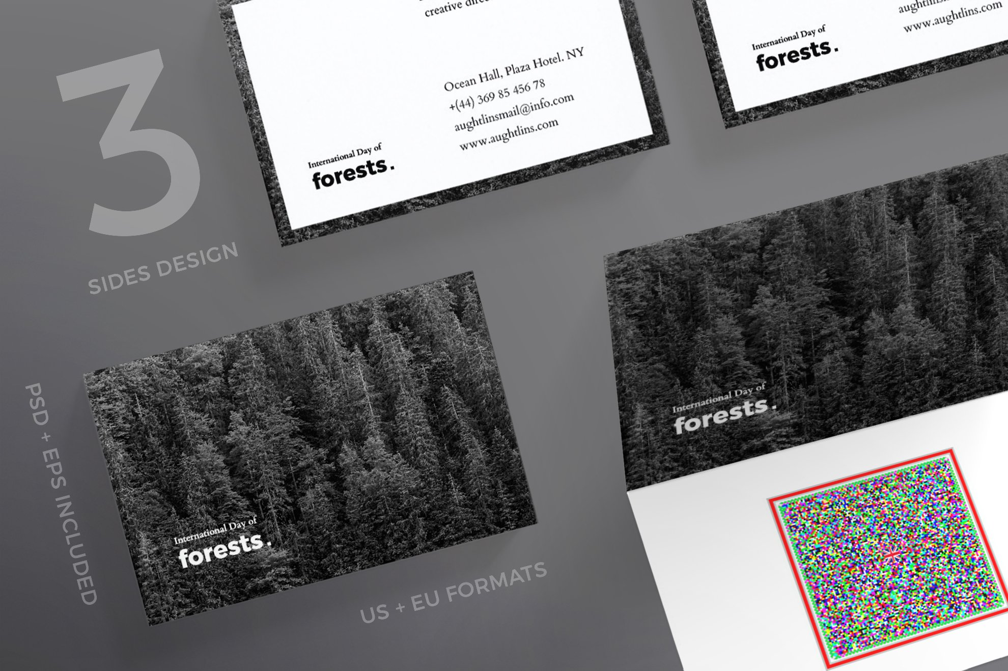 Business Cards | Forests Day ~ Business Card Templates ~ Creative Market